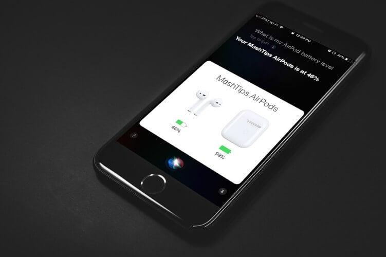 Check AirPod Battery Level Siri
