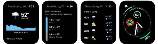 Dark Sky Weather App for Apple Watch