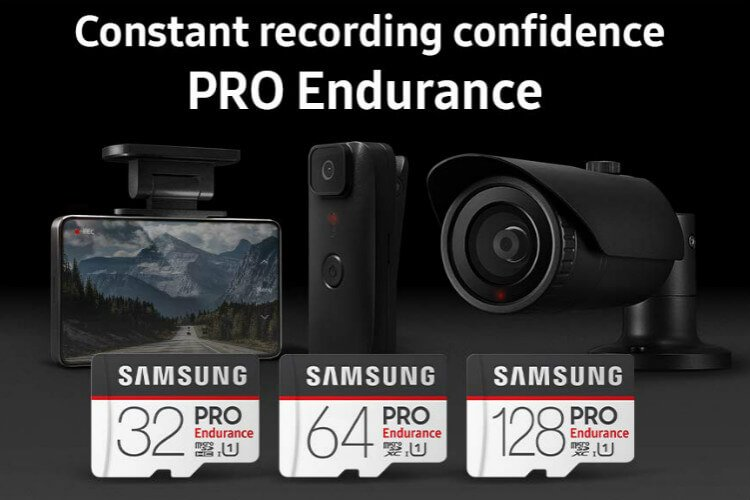 High Endurance MicroSD Card for Dashcams Drones
