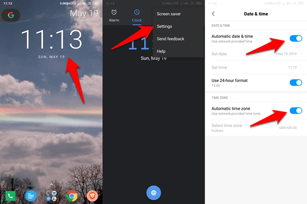 Fix Android Clock Widget Showing Wrong Time Error 1