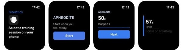 Freeletics fitness app for Apple Watch