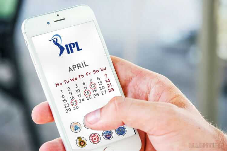 Get IPL Match Calendar on Android iPhone