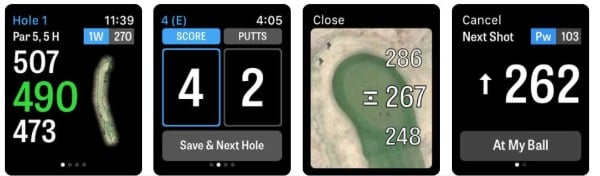 Golfshot GPS app for Apple Watch