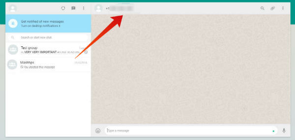 PC send whatsapp message without saving number