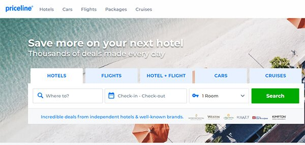 Priceline Website