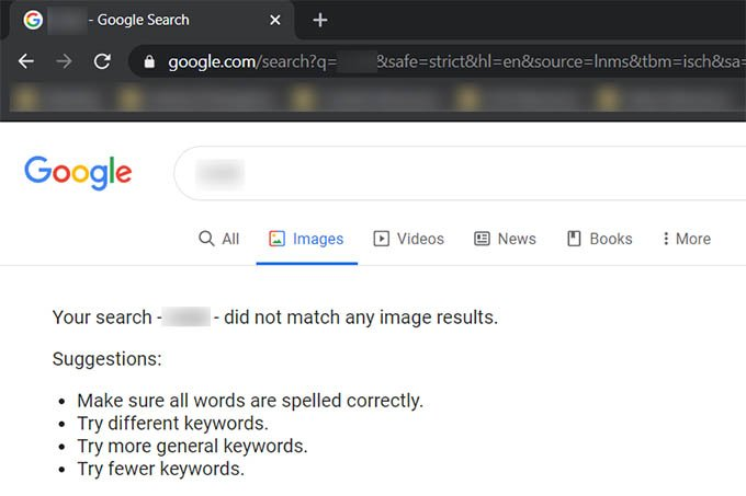 SafeSearch on Google Search Result Page