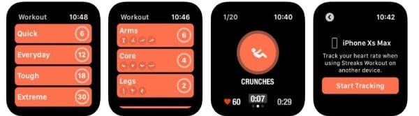 Streaks Workout fitness app for Apple Watch