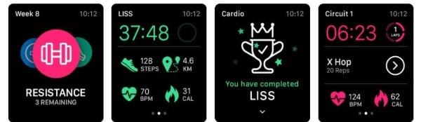 Sweat Kayla Itsines Fitness app for Apple Watch