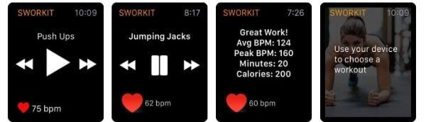 Sworkit fitness app for Apple Watch