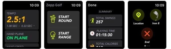 Zepp Golf app for Apple Watch