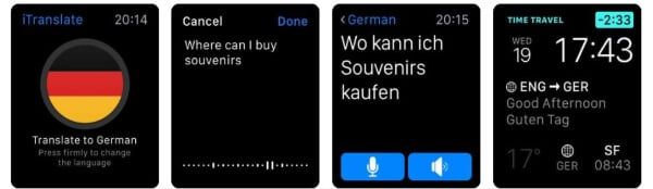iTranslate Translator travel app for Apple Watch