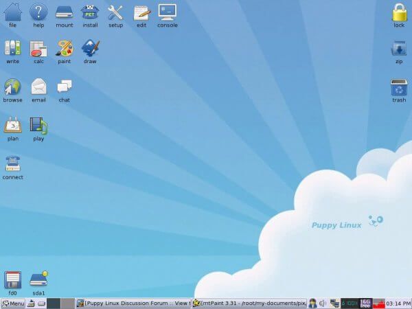 Puppy light Linux distro
