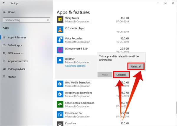Uninstall built-in Windows 10 apps