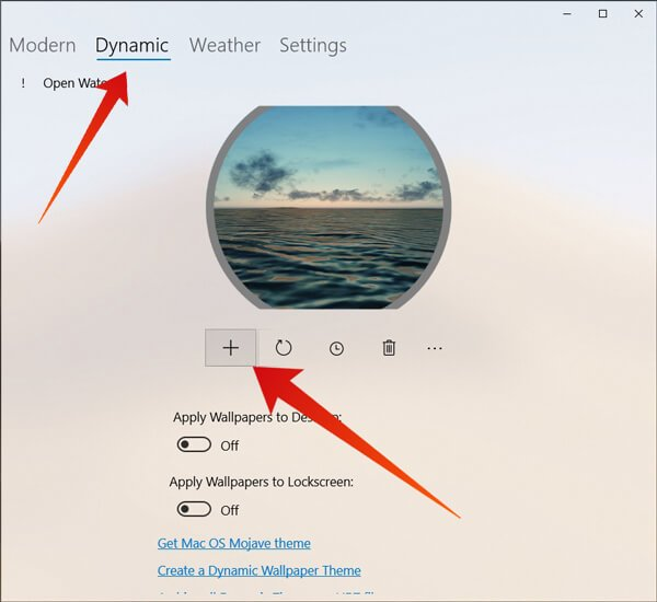 Add mac like dynamic desktop to windows 10