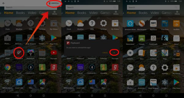 Amazon Fire Uninstall App Direct