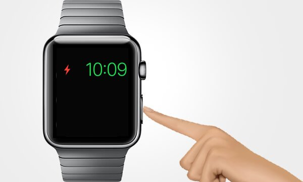 Disable Power Reserve Mode by Press and hold the side button on Apple Watch