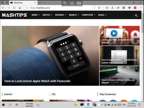 PC screen mirroring on iPad via Remote Desktop