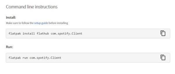 Spotify Flatpak install command