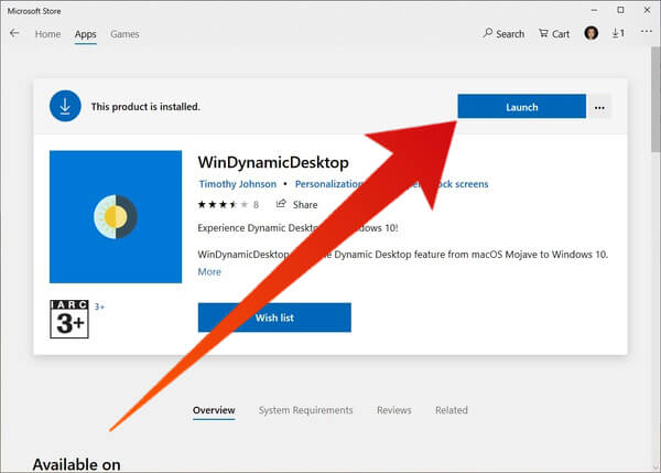 Launch WinDynamicDesktop