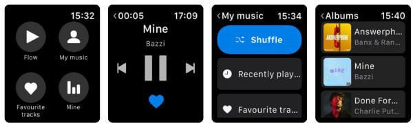 Deezer Apple Watch App