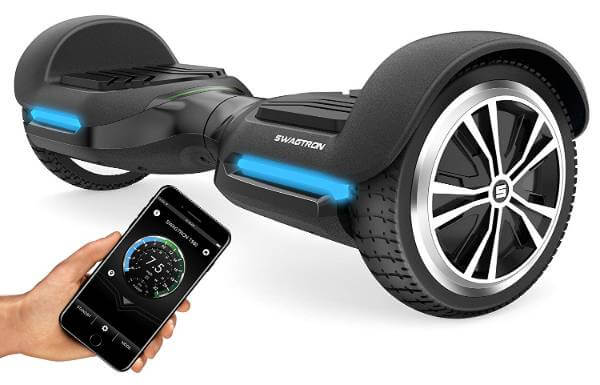 Swagtron App-Enabled Bluetooth Hoverboard w/Speaker Smart Self-Balancing Wheel