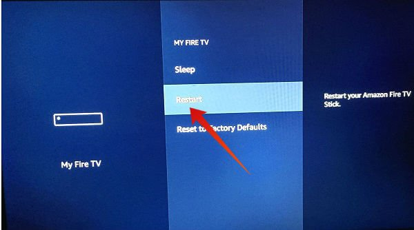 Amazon Firestick Restart device