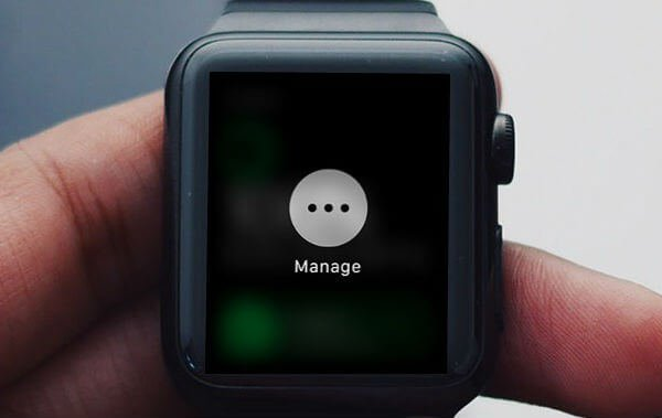 Apple Watch Freeze Manage Screen