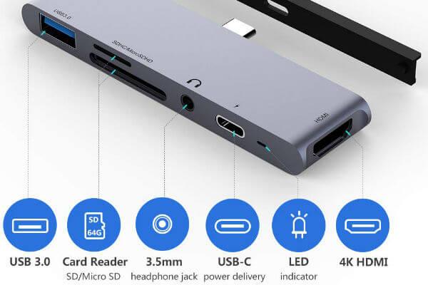Byttron USB C Hub for iPad Pro