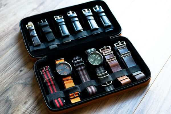 Caddy Bay Collection Compact Travel Watch Band Strap Case