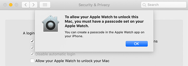 Confirm Auto Unlock in Mac
