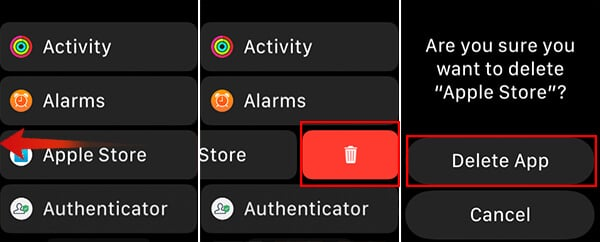 Delete App from List View on Apple Watch