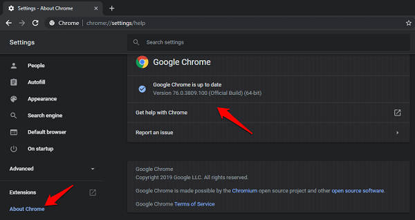 Fix Chrome's Continue Where You Left off Feature Not Working 1