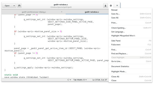 GNOME Text Editor