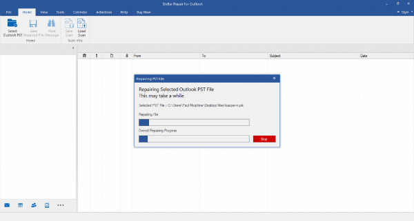 Outlook Repair Tool Scanning
