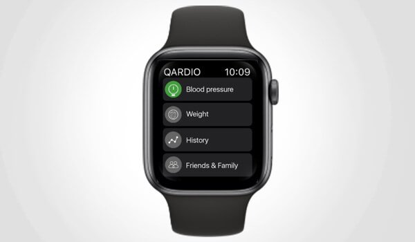 Qardio App on Apple Watch View History