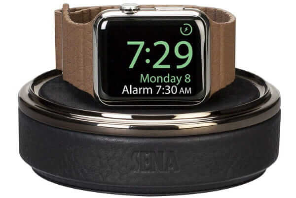 Sena Leather Watch Charging Case for Apple Watch
