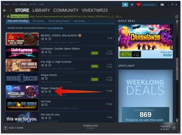 Steam Platform Availability indicators