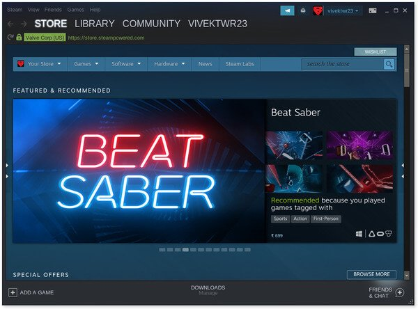 Steam Games Library on Linux