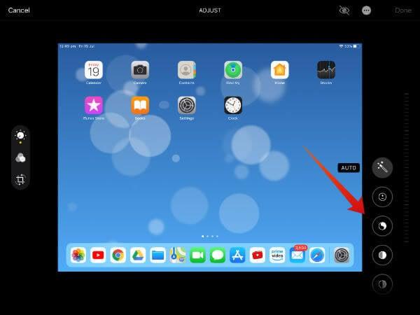 iPad photo editing tools
