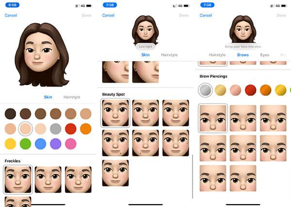 Change Skin and Hair in iOS Memoji