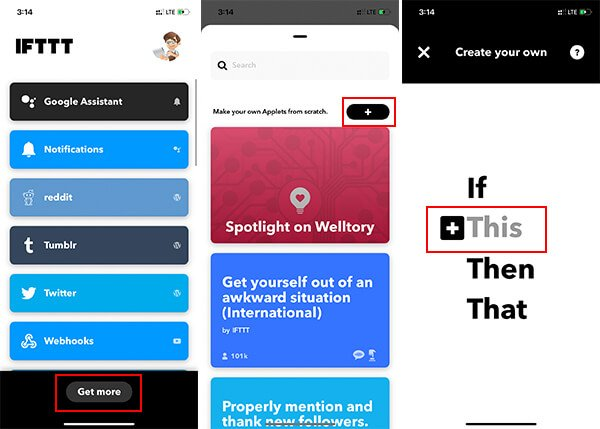Create an IFTTT Applet