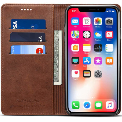 Fly Hawk iPhone 11 Wallet Leather Case