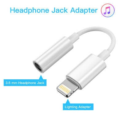 Lightning to 3.5 mm Headphone