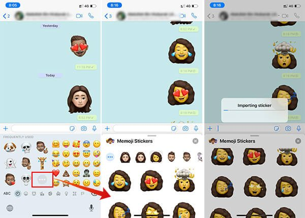 Send Memoji Sticker on WhatsApp from iPhone
