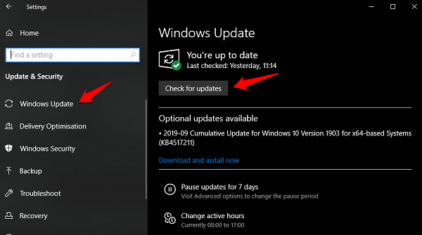 Solve Windows 10 Stops Responding Error 1