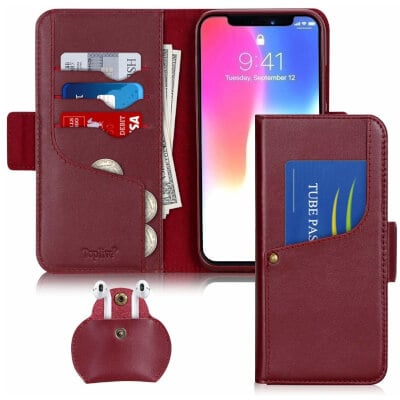 Toplive Genuine Leather Wallet Case