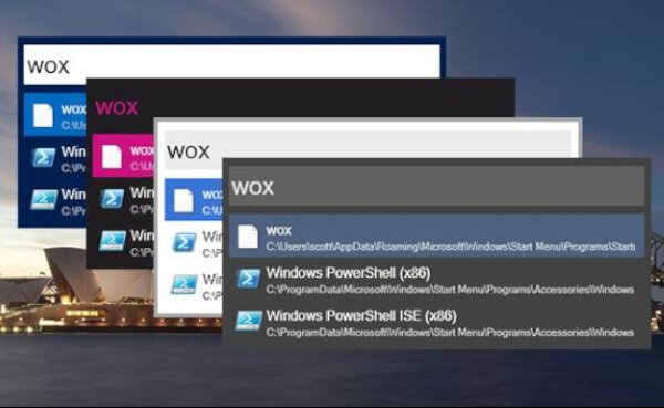 WoX App Launcher For Windows 10