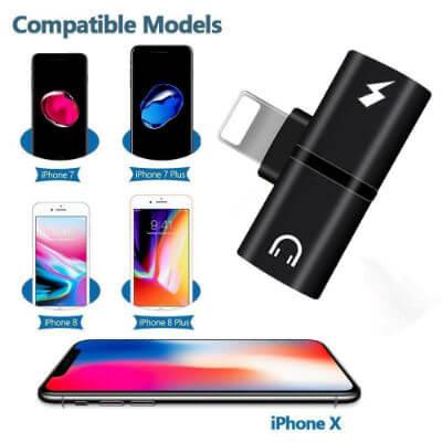 iPhone Headphone Charging Adapter Splitter