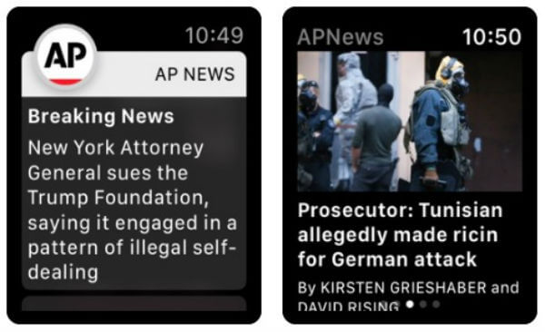 AP News Apple Watch News App
