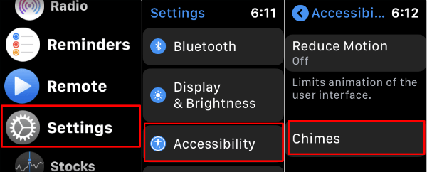 Apple Watch Accessibility Setting